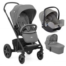 Joie - Trio Chrome DLX c/i-Snug - Foggy Gray '2020