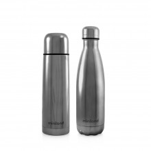 Miniland - My Baby & Me Thermo 2x500ml - Silver