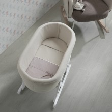 Micuna - Berço Nacelle - Nature Beige-Chambray Beige