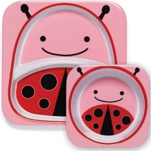 Skip Hop - Prato + Taça ZOO TABLEWARE - Lady Bug