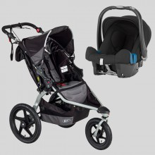 BOB - Revolution Pro Black + Römer Baby Safe Plus SHR II