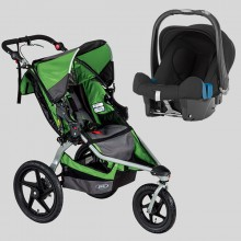 BOB - Revolution Pro Wilderness + Römer Baby Safe Plus SHR II