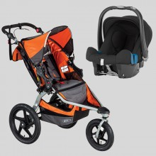 BOB - Revolution Pro Orange + Römer Baby Safe Plus SHR II