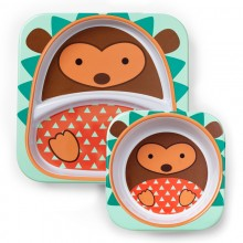 Skip Hop - Prato + Taça ZOO TABLEWARE - Hedgehog