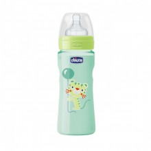Chicco - Biberão Well-Being Colorido 330ml Neutro +4M