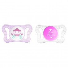 Chicco - Chupeta Physio Micro 0-2m Little Princess Roxo/Transparente