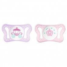 Chicco - Chupeta Physio Micro 0-2m Little Princess Roxo/Rosa