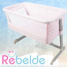 Rebelde - Mini-Berço Co-Sleeping - Honey Bunny Rosa '2017