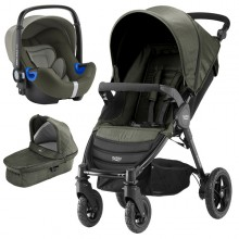 Britax Römer - Trio B-Motion 4 i-Size Bundle - Olive Denim '2019