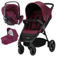 Britax Römer - Trio B-Motion 4 i-Size Bundle - Wine Red '2019