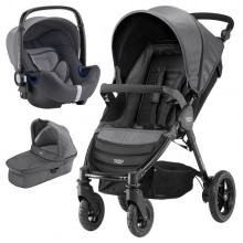 Britax Römer - Trio B-Motion 4 i-Size Bundle - Black Denim '2019