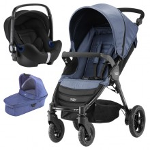 Britax Römer - Trio B-Motion 4 i-Size Bundle - Blue Denim '2019