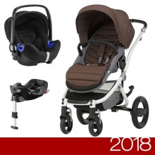 Britax Römer - Duo Affinity 2 i-Size Bundle - White Wood Brown '2018