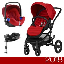 Britax Römer - Duo Affinity 2 i-Size Bundle - Black Flame Red '2018