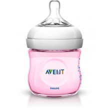 Avent - Biberão Natural 125ml Rosa