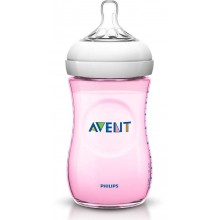 Avent - Biberão Natural 260ml Rosa